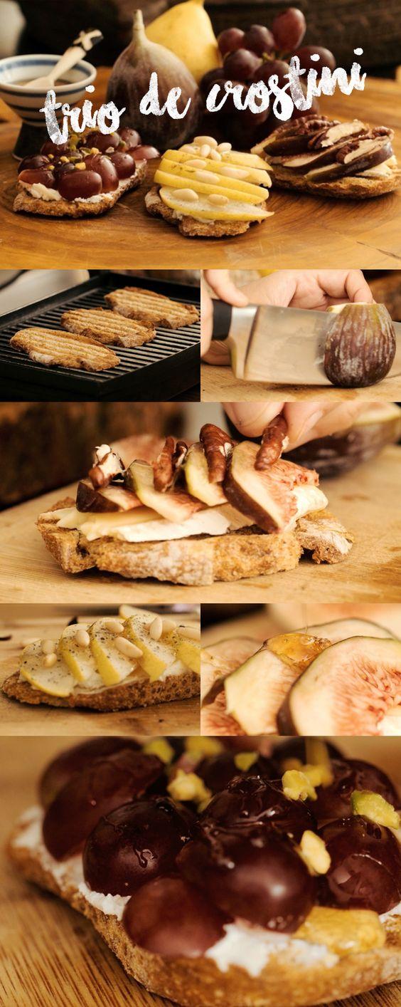 Qual a combinação mais gostosa do que pão com azeite? Receita super saborosa de Crostini que é parente da famosa Bruschetta. A diferença está no pão e em como ele é cortado e preparado. Veja mais receitas em www.myyellowpages.com.br