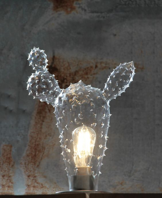 Tequila Cactus lamp. Completely handmade, mouth blown in Venice. www.casarialto.it: