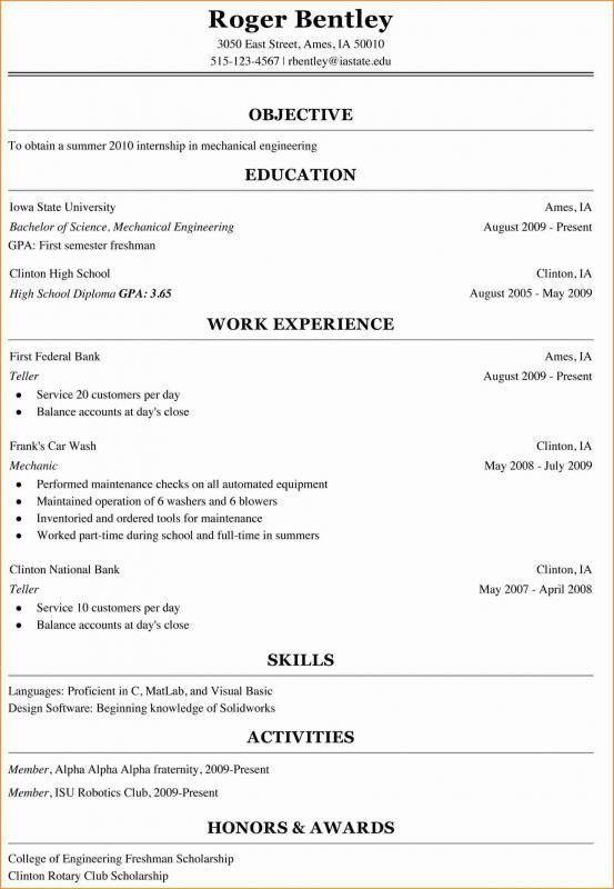 College Freshman Resume Template Resumetemplates Student Resume Template Student Resume College Resume Template
