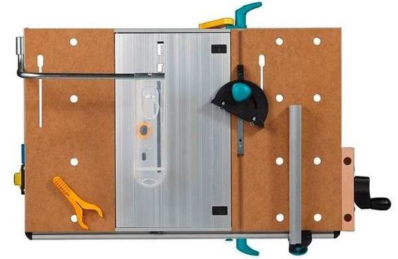 Mastercut1500 draufsicht Technische Daten  Belastbarkeit: 200 kg Eigengewicht: 17 kg ergonomische Höhe: 86,50 cm Größe der Tischplatte: 78 x 50 cm Größe der Maschinenplatte 28,5 x 50 cm Spannweite 12 – 62 cm