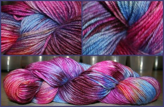 Insomnia ~ Hand dyed, 100g, DK / 8 ply, BFL wool, Bluefaced Leicester ...