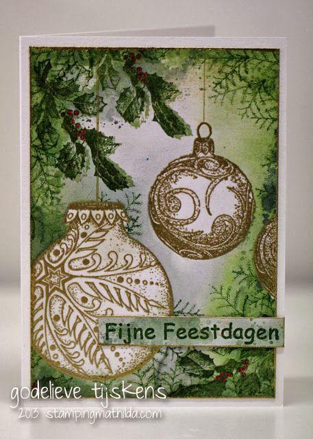 """fijne feestdagen"" Dutch  for ""happy holidays"" - - - StampingMathilda: New Art Journey Stamps #1"
