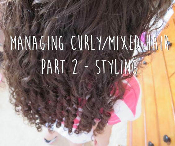 managing mixed/curly hair