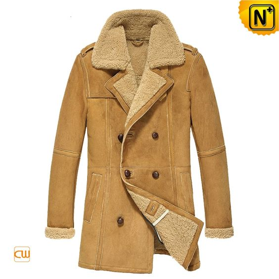 Shearling Sheepskin Coat for Men CW878265 $1625.89 - www.cwmalls.com
