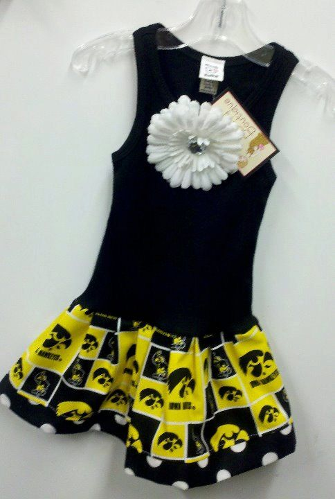Iowa Hawkeye Dress for Emmarie (minus that flower).  Might even make her a cyclone one too.