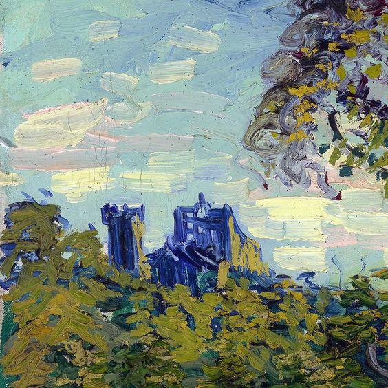 Sunset at Montmajour (detail) by Vincent van Gogh