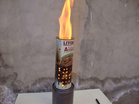Ciencia, inventos y experimentos en casa: Estufa para exteriores hecha con latas