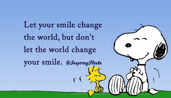 "Roy Bennett on Twitter: ""Let your smile change the world, but don't let the world change your smile.  Unknown https://t.co/R11pzQs6k0"""