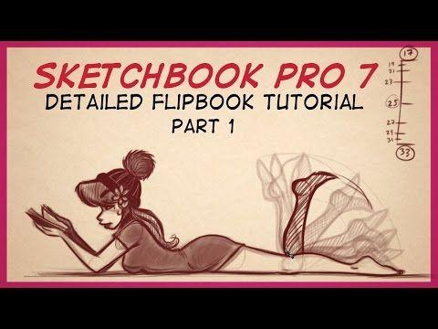 Autodesk Sketchbook Pro 7 FlipBook Tutorial Part 1 - YouTube