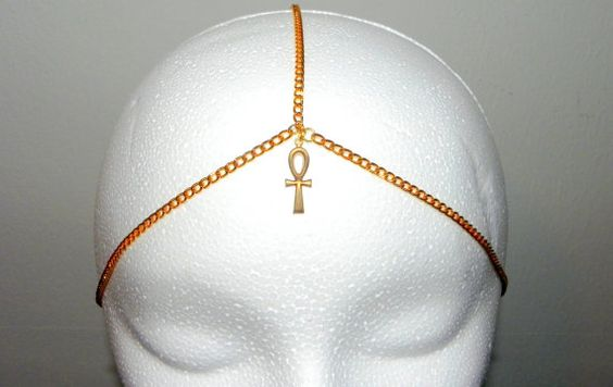 Ankh Cross Chained Crown by PLUMEUPHORIA on Etsy, $17.00