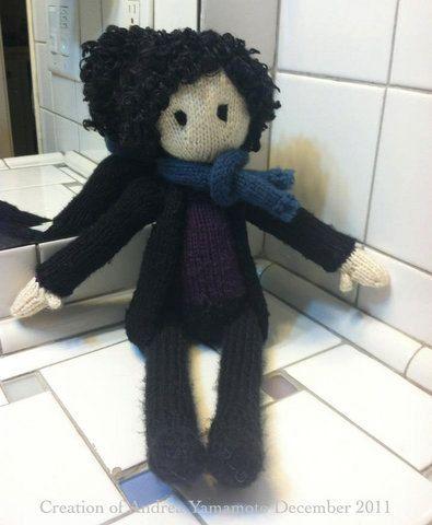 BBC Sherlock Doll by ashnight1214 on Etsy, $50.00. awe i just wanna snuggle with him and watch sherlock;)