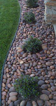 Piedra De Rio Para Decorar Tu Casa Jardines Paisajismo De Patio Jardin Con Piedras