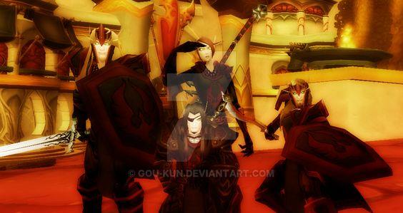 Resultado de imagen para wow blood knight art
