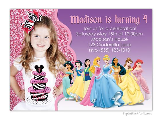 Disney Princess Invitation  Personalized Party by PupiloftheWorld, $12.00