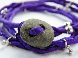 Live In Art: Silk Wrap Bracelets: Tutorial