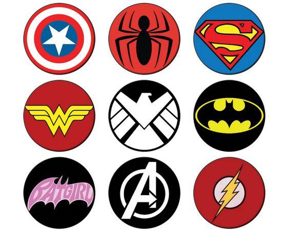 Comic Book Superhero Button badge 25mm / 1 inch Batman - Batgirl - Avengers - Flash - Superman - Avengers by CampdaveBadges on Etsy https://www.etsy.com/listing/217657269/comic-book-superhero-button-badge-25mm-1