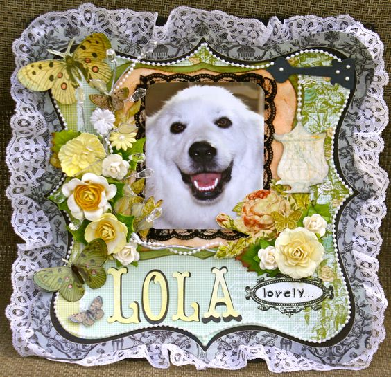 Lovely Lola - Scrapbook.com  My beautiful Great Pyrenees rescue Lola! So named because I think she looks like a showgirl! Visit my gallery at scrapbook.com