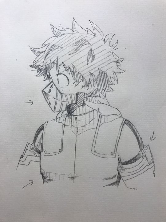 My Academic World Bnha Izuku Midoriya Deku Hero Anime Sketch Anime Drawings