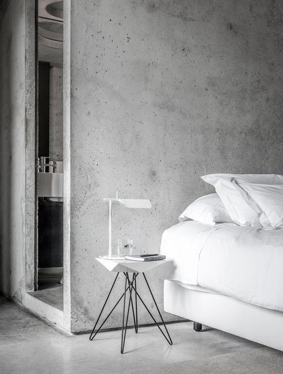 De estilo minimalista: paredes de cemento
