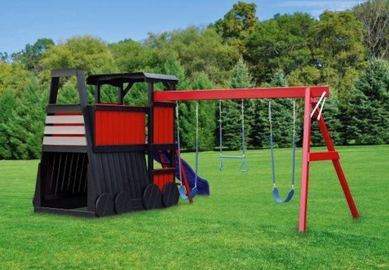 Playhouse Swing Set Plans Wooden Train Plans Http