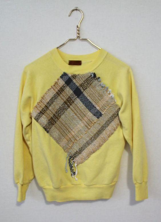 Woven Sweatshirt Sz. M by AllRoadsMarket on Etsy