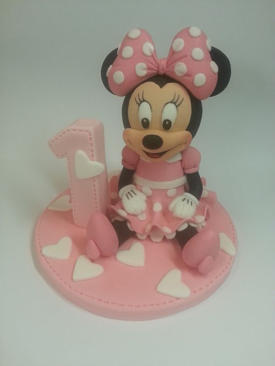 Minnie Mouse Edible Cake Topper Figure