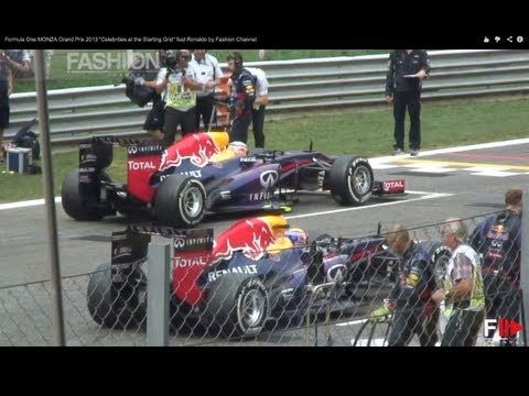 """Formula One MONZA Grand Prix 2013 """"Celebrities at the Starting Grid"""" feat Ronaldo by Fashion Channel #FormulaOne #monza #grandprix #2013 #celebrities #startinggrid #Ronaldo #fashionchannel #fashion #channel"""