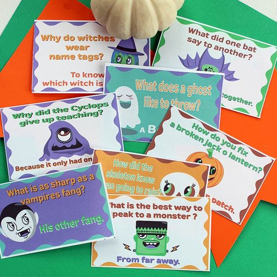 Free Printable Halloween Lunch Box Jokes for Kids | Sunny Day Family