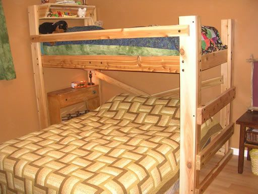 Queen Twin Bunk Bed Plans, Diy Bunk Bed Plans Twin Over Queen