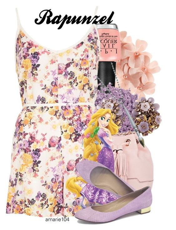 """""""Rapunzel"""" by amarie104 ❤ liked on Polyvore featuring Tasha, OPI, Rebecca Minkoff, River Island and J.Crew"""