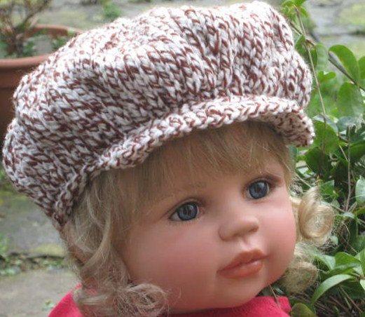 Knitting Pattern Peaked Scally Newsboy Cap 2 Sizes By Carolrosa