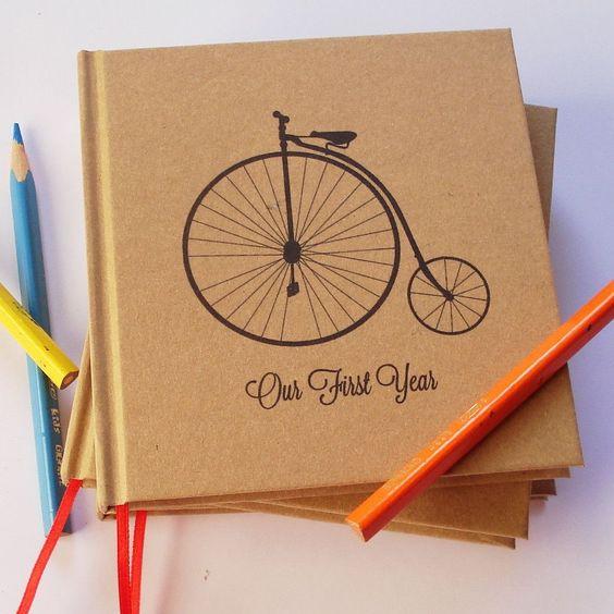 Kraft Paper Wedding Guest Book · First Anniversary Journal · Wedding A – Transient Books