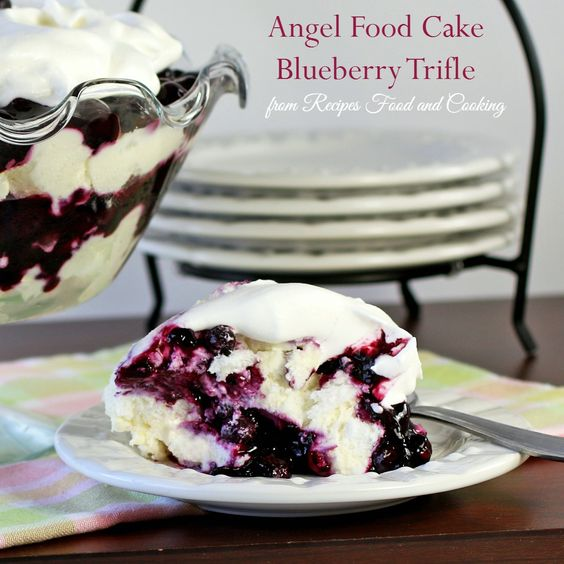 Angel Food Cake Blueberry Trifle - Recipes Food and Cooking