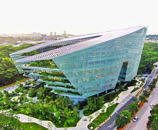 Aedas eco design fritted glass george lucas green for Green design