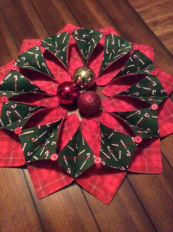 A personal favorite from my Etsy shop https://www.etsy.com/listing/475164266/handmade-christmas-fabric-wreath-center