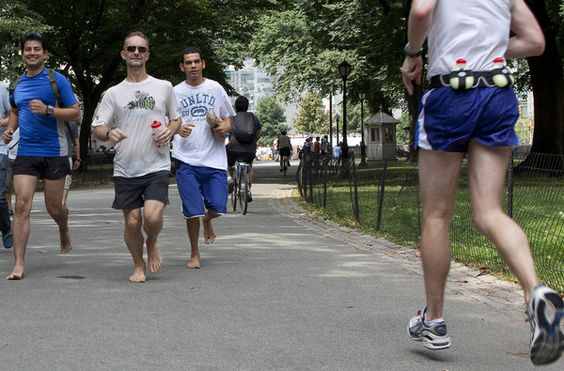 #Running without shoes seems to be the new thing - I wonder whether it's healthy?