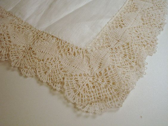Handmade linen lace. Thrifting find, 99¢!