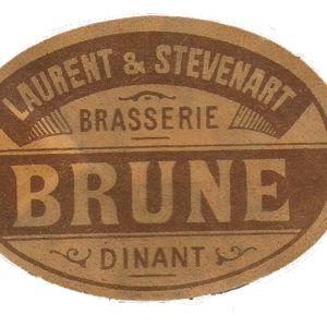 étiquette brune