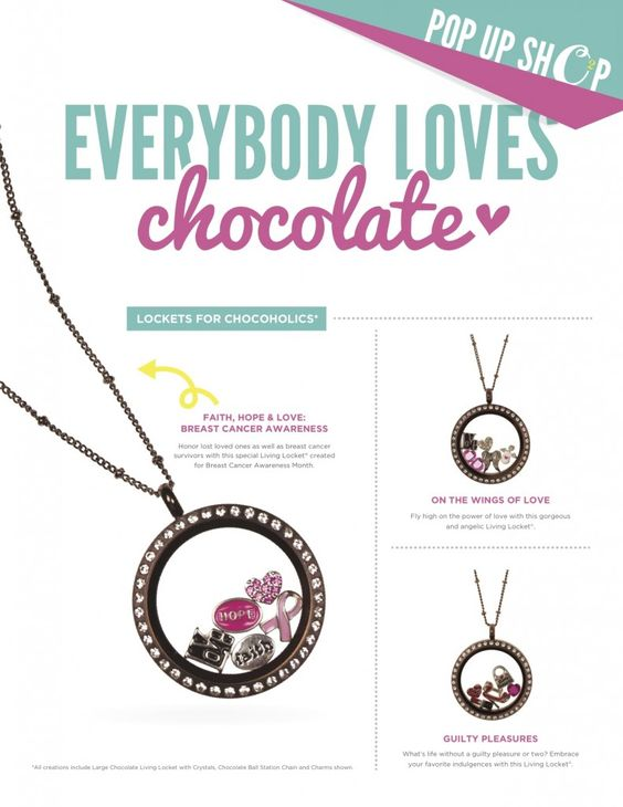 Everyone Loves Chocolate - First Origami Owl 48-Hour Pop Up Shop - Origami Owl Jewelry