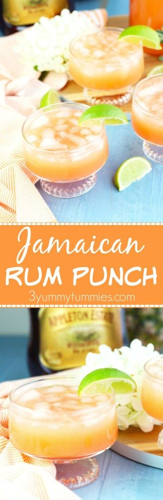 Make a pitcher of this refreshing Jamaican Rum Punch with dark rum, pineapple…