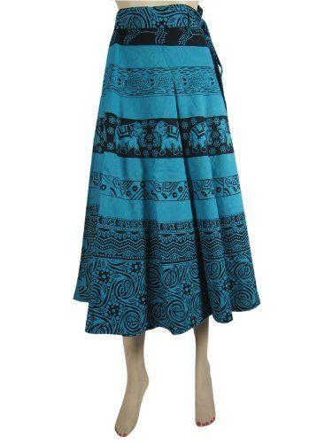 Women Wrap Skirt Blue Black Elephant Printed Cotton Wraparound Skirt Gift Idea Mogul Interior,http://www.amazon.com/dp/B00AWM37H4/ref=cm_sw_r_pi_dp_Xip6qb16H4PWRF19