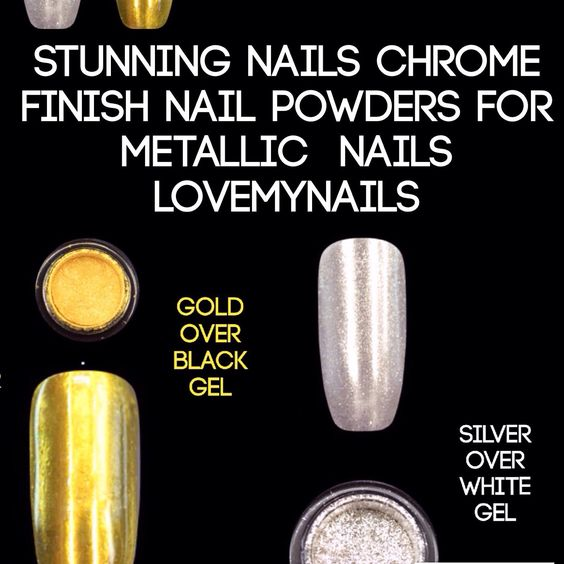 Stunning mirror nails set of 3G gold and 3G silver Free Shipping