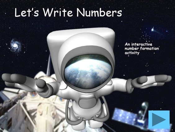 Space Themed Number Formation for IWB This presentation uses action buttons which only work in slide show view and in the full version of Microsoft PowerPoint (not the viewer). Traditional numbers, straight line 1 and back 4 and 9.