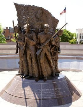 The African American Civil War Memorial - at the corner of Vermont Avenue, 10th St, and U Street NW in Washington, D.C., commemorates the service of 209,145 African-American soldiers and sailors who fought for the Union in the United States Civil War. The complex is located at the eastern entrance to the U Street Metro station. The memorial was developed by the African American Civil War Memorial Freedom Foundation and Museum.