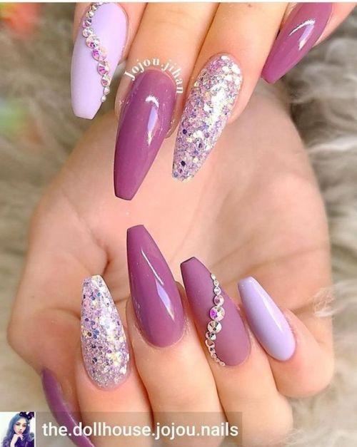 Pin By Rhonda Carlisle On Nail Ideas In 2020 Purple Nails Popular Nail Designs Popular Nails