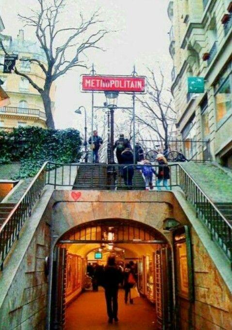Paris, métro, métropolitain Lamarck