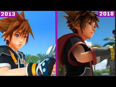 Kingdom Hearts 3 2013 Vs 2018 Early Graphics Comparison Youtube Kingdom Hearts Kingdom Hearts 3 Adventure Games