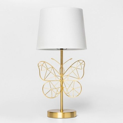 Butterfly Wire Table Lamp Gold Pillowfort Gold Table Lamp Kids Table Lamp Kids Lamps