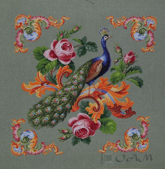 (2) Gallery.ru / Фото #14 - Подушка - Antique peacock - ksuxa24: