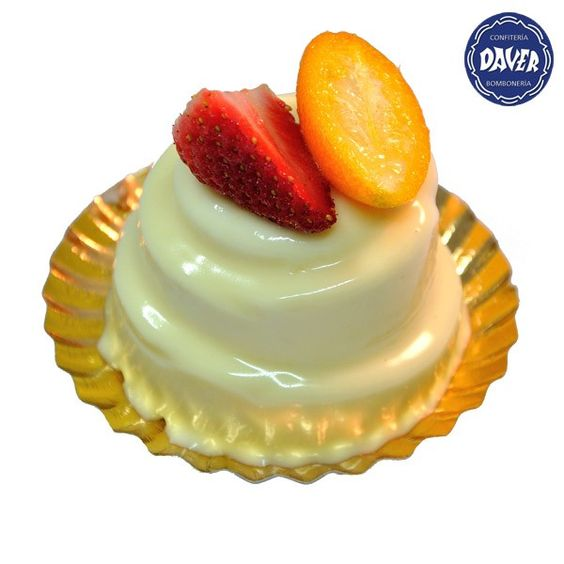 #Mousse suave de #chocolate blanco decorado con #frutas del tiempo